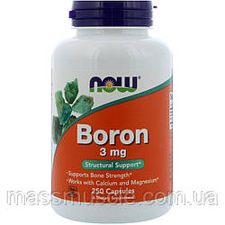 Мінерали Бор NOW Foods Boron 3mg 250 caps