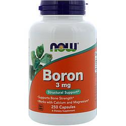 Минералы Бор NOW Foods Boron 3mg 250 caps