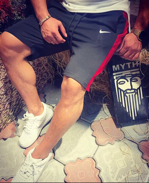 Бриджи мужские Nike D3864 темно-серые