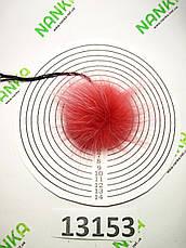 Меховой помпон Енот, Св. Винный, 6 см, 13153, фото 3