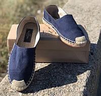 Эспадрильи мужские Valentino D3885 темно-синие, фото 1