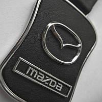 """Брелок автомобильный """"Mazda"""" кожаный"""