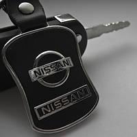 """Брелок автомобильный """"Nissan"""" кожаный"""