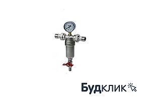 "Самопромыв. фільтр з маном. 1/2"" HLV"