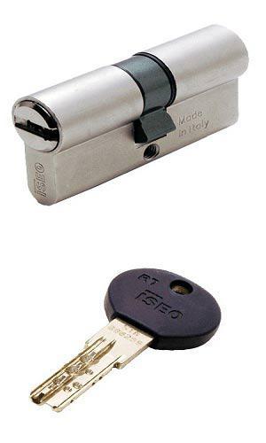 ISEO R7 75 (35х40) ключ-ключ  матовий хром