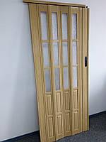 Дверь раздвижная полуостекленные светлый дуб 269,860х2030х12мм