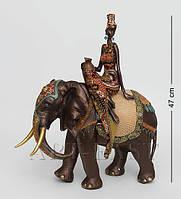 Статуэтка Африканская женщина на слоне 47 см SM- 92
