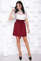 Красивая женская деловая расклешенная юбка до колен 7076/2, фото 1