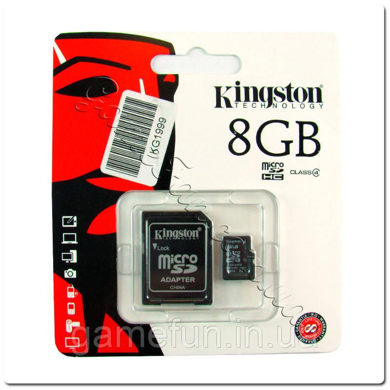 Карта памяти - Kingston MicroSDHC 8GB (Class 4)