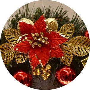 Венок новогодний украшенный 0422 RG, фото 2