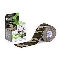 Кинезио тейп Tmax Tape 5см х 5м Камуфляж Зелёный