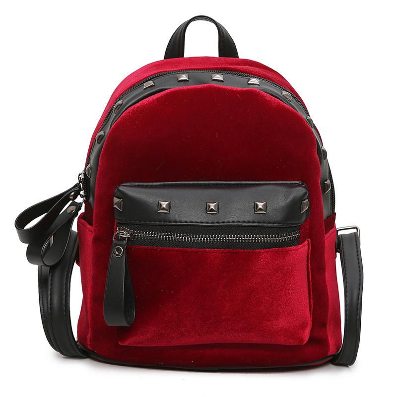 Рюкзак Jesse Velor Red