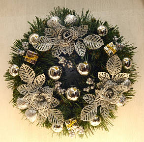 Венок новогодний украшенный 0422 S, фото 2