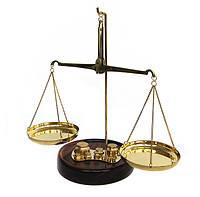 Весы с гирьками бронза