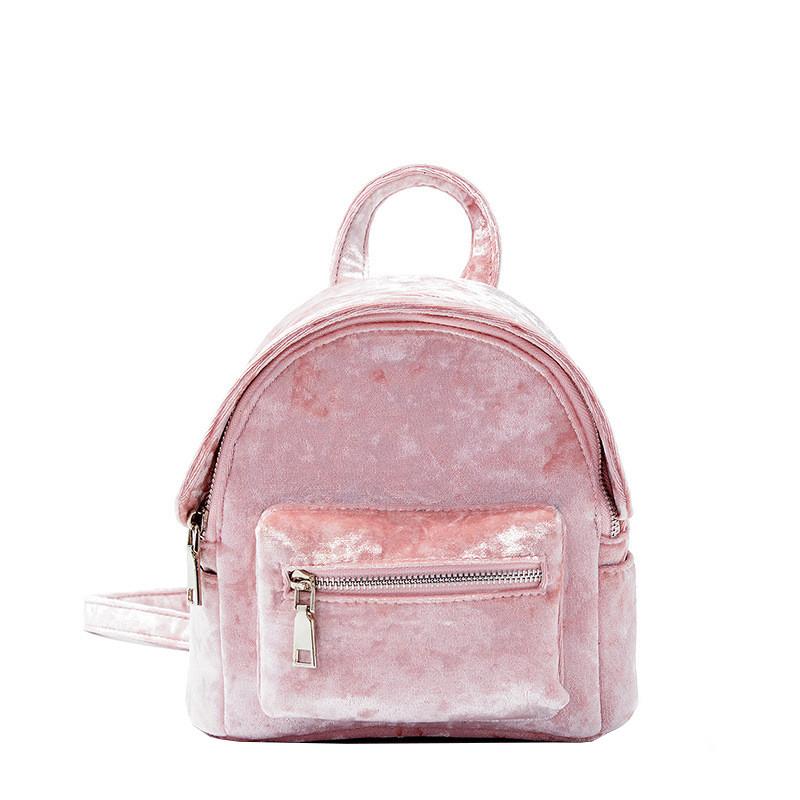 Рюкзак Yvonne Velours Pink Mini