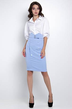2877e9a865c Женская Стильная блузка с пышными рукавами белая  продажа