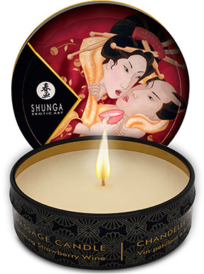 Свеча для массажа Shunga Massage Candle Sparkling Strawberry - клубника, 30 мл