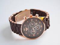 10 шт Наручные часы Emporio Armani коричневые