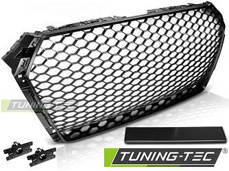 Решетка радиатора Audi A4 B9 стиль RS (черный мат)