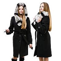 """Женское зимнее пальто из кашемира с капюшоном """"Шиншилла"""""""