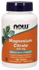 Витамины NOW Foods Magnesium Citrate 100caps