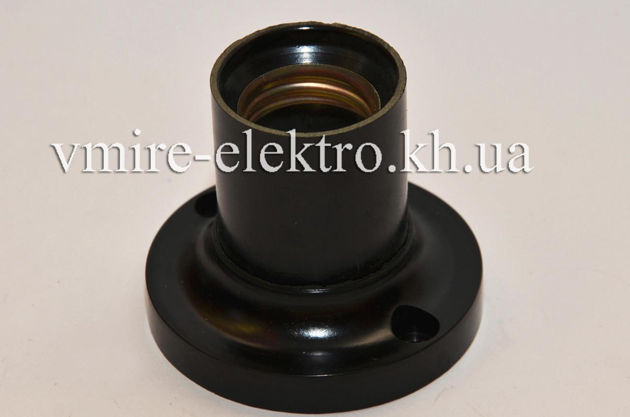 Патрон электрический настенный прямой карболитовый Е 27 (Украина)