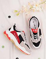 Женские кроссовки на шнуровке 25782, фото 1