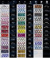 Стразы Pellosa Premium размер SS16 любой цвет из карты (термоклеевые, поштучно)