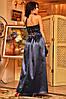 Платье корсет атлас в пол