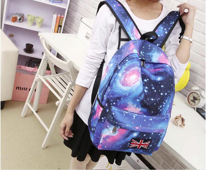 Школьный подростковый рюкзак галактика космос.