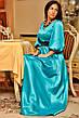 Платье фонарик атлас в пол , фото 4