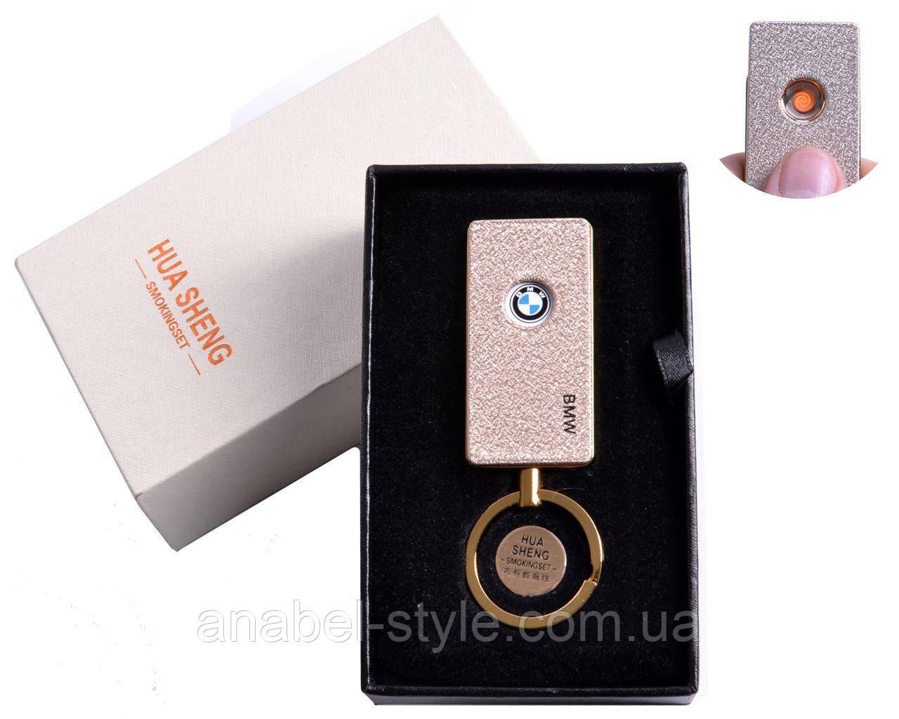 """USB зажигалка в подарочной упаковке """"BMW"""" (спираль накаливания) №4808-4 Код 119470"""