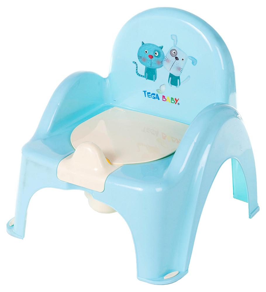 Пластик tega горшок-кресло Cat & Dog бирюзовый