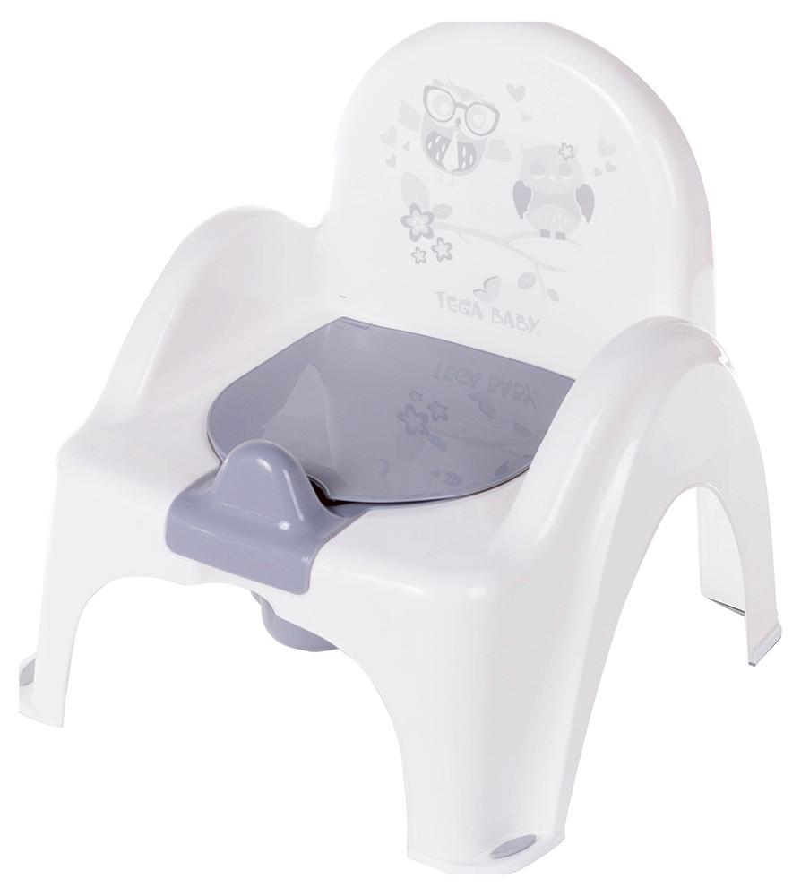 Пластик tega горшок-кресло SOWA белый