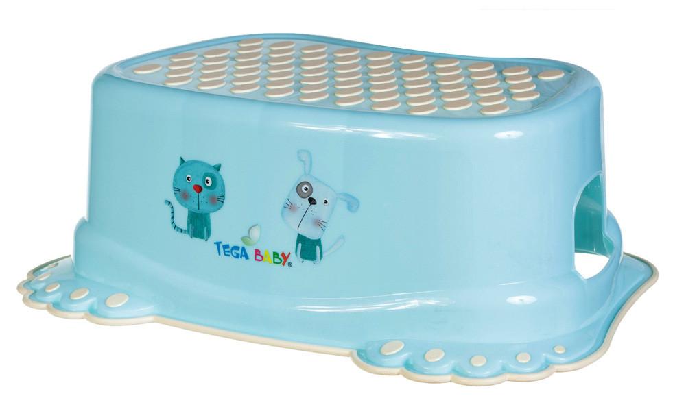 Подножка Tega антискользящая Cat & Dog бирюзовый