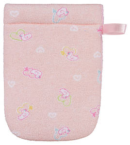 Для купания BADUM Рукавичка махровая розовая
