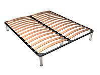 Каркас кровати двуспальный с ножками 190*140 см.