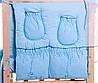 Постель Qvatro с аппликацией Однотон.100% Хлопок (8 Элем.) голубой (мишка тедди), фото 3
