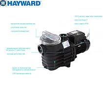 Насос Hayward SP2520XE253E1 EP 200 (380В, 25.7 м³/час, 2HP), для бассейнов объёмом до 102,8 м3, фото 3