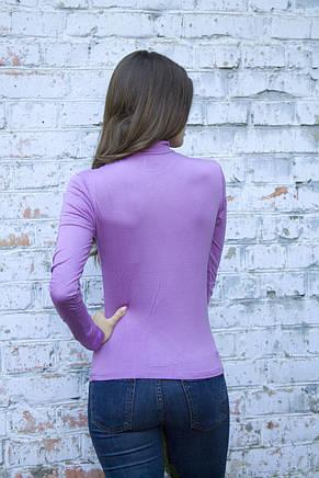 Водолазка женская лиловая, фото 2