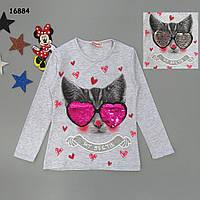 """Кофта """"Котик"""" для дівчинки (двосторонні паєтки), фото 1"""