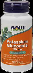Витамины NOW Foods Potassium Gluconate 99mg 100 tabs