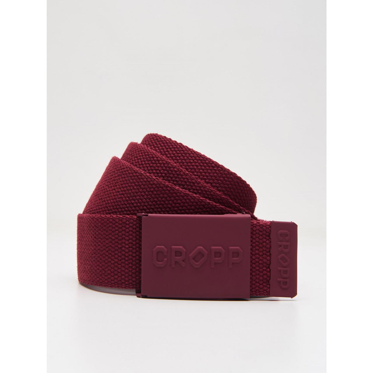 Ремень Cropp - Классический логотип и бордовый цвет (Ремінь \ Пояс)