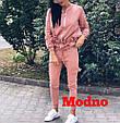 Костюм-двойка кофта на молнии и брюки с рюшами , фото 4