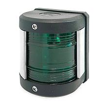 Навігаційний вогонь для катера зелений led корпус чорний