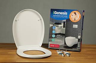 Туалетное сиденье с микролифтом из дюропласта Genesis 0401