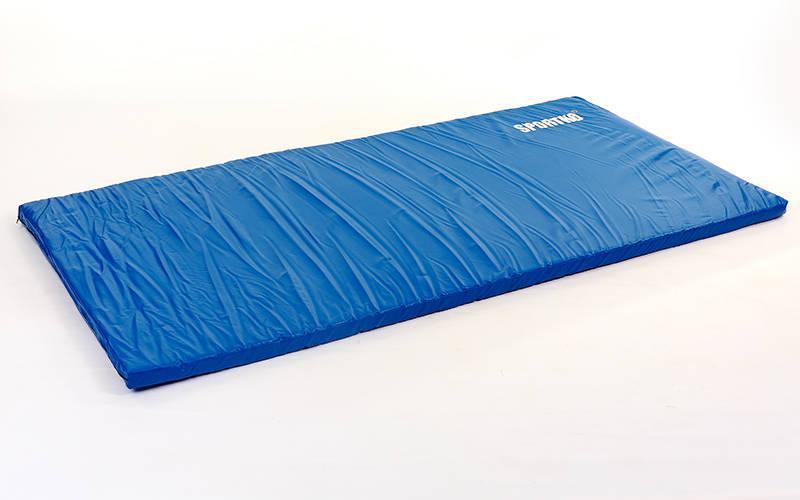 Мат спортивний Кожвініл 2х1м x 6см UR SPORTKO (наповнювач-поролон,на блискавці,синій)