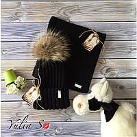Зимняя шапка и хомут. Ручная вязка., фото 1
