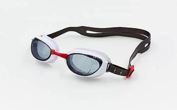 Окуляри для плавання Speedo Aquapure(червоно-сірі)