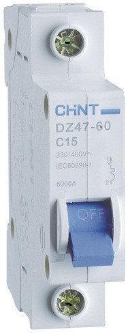 Автоматические выключатели CHINT DZ47-60 1P C 6A 4,5kA на DIN-рейку